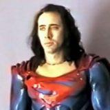 Video muestra cómo se veía Nicolas Cage con el traje de Superman